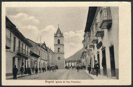 786 COLOMBIA: BOGOTÁ: San Francisco Church, Ed. Librería Minerva, VF Quality - Colombia