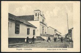 787 COLOMBIA: BOGOTÁ: Old Church Of Sta. Bárbara, Ed. Librería Minerva, VF Qualiy - Colombia