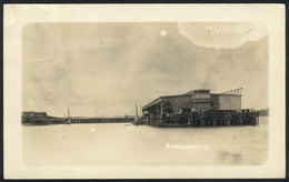 788 COLOMBIA: BUENAVENTURA: View Of The Dock, Real Photo PC Used In 1923, Fine - Colombia