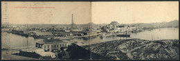790 COLOMBIA: CARTAGENA: Double PC With Panorama Of The Port, Minor Defects, Good Appeara - Colombia