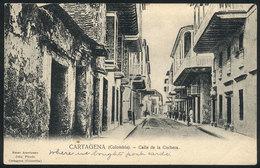 792 COLOMBIA: CARTAGENA: Cochera Street View, Ed. John Pinedo, Circa 1905, VF - Colombia