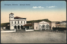 794 COLOMBIA: CARTAGENA: Railway Station, Ed. Mogollón, VF Quality - Colombia