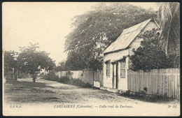 795 COLOMBIA: CARTAGENA: Turbaco Street View, Circa 1905, VF Quality! - Colombia