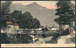 798 COLOMBIA: MEDELLIN: Santa Elena Stream, Dated 1923, VF Quality! - Colombia