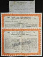 830 CUBA: 2 Bond Certificates Of The Cuba Northern Railways Co., For $1000 Each, December - Shareholdings