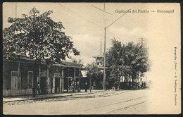 841 ECUADOR: GUAYAQUIL: Capitania Del Puerto, Fot.Velox, Circa 1905, VF! - Ecuador