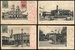 842 ECUADOR: GUAYAQUIL: 4 Cards Used Circa 1905, With Light Staining. - Ecuador