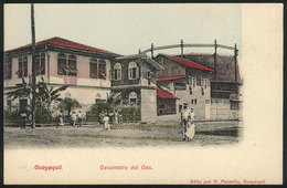 845 ECUADOR: GUAYAQUIL: Gasometer, Ed.Pazmiño, Circa 1905, VF! - Ecuador