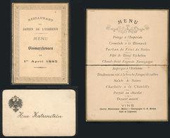 "862 EGYPT: Dinner Menu (torn In Half) And Card Of Restaurant ""Jardin De L'esbékieh"", 1 Ap - Programs"