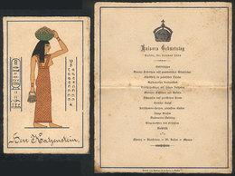 864 EGYPT: Dinner Menu Of Banquet Commemorating Birthday Of The German Kaiser, Cairo 27 J - Programs