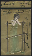999 FRANCE: BERNHARDT Sarah, Actress, Her Autograph On Postcard Used In Argentina In 1905 - Autographs