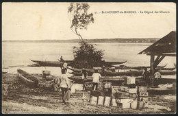 1027 FRENCH GUIANA: ST-LAURENT-DU-MARONI: Les Dégrad Des Mineurs, Canoes, Unused - Postcards