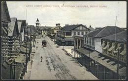 1029 BRITISH GUIANA: GEORGETOWN: Water Street Looking South, Circa 1910, Unused, Fantastic - Postcards