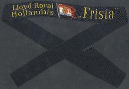 "1055 NETHERLANDS: Old Sailors's Hat Ribbon Of Dutch Ship ""Frisia"", Lloyd Royal Hollandais, - Headpieces, Headdresses"