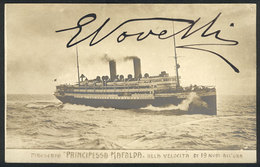 1243 ITALY: NOVELLI Ermete, Italian Actor And Playwright, His Autograph On A Postcard With - Autographs
