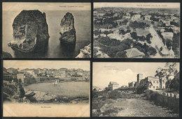 1264 LEBANON: BEIRUT: 4 Old Unused PCs, VF Quality, Nice Views - Lebanon