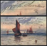 1434 PERU: SANTOS CHOCANO José, Poet, Autograph On PC Edited By Raphael Tuck & Sons, Illus - Autographs