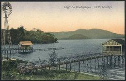 1464 EL SALVADOR: Coatepeque Lake, Piers, Windmill, Ed.Galdames, VF Quality! - El Salvador