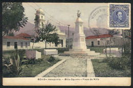 1672 VENEZUELA: MÉRIDA: Milla Square, Sent To Italy In 1924, VF Quality - Venezuela