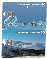 @+ Finlande - Lot De 2 Telecartes à Puce (lot 1) - Finland