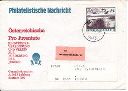Austria Cover Sent To Denmark Salzburg 6-12-1984 And Retutrned - 1945-.... 2ème République
