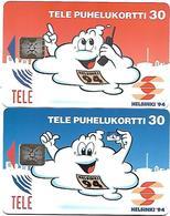 @+ Finlande - Lot De 2 Telecartes à Puce (lot 3) - Finland