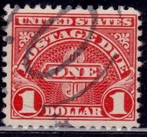 United States, 1930, Postage Due, $1, Sc#J77, Used - Postage Due