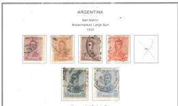 Argentina PO 1920 San Martin  Scott.292/297+299+See Scans On Scott.Page - Usati