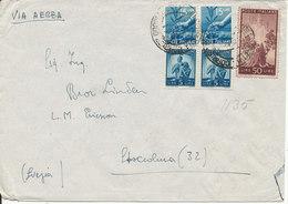 Italy Cover Sent To Sweden Napoli 1945 ?? - 4. 1944-45 Social Republic
