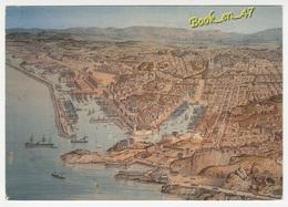 {77404} 13 Bouches Du Rhône Marseille , Par Hugo D' Alesi Le Domaine Portuaire , Plume Et Aquarelle 1886 - Marseille