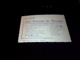 Publicité  Ancienne Carte De Visite  Photo Sur Carton Hotel Restaurant Les Mesanges A Sy S/ourthe - Cartoncini Da Visita