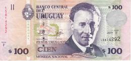 BILLETE DE URUGUAY DE 100 PESOS DEL AÑO 2011 (BANKNOTE) - Uruguay