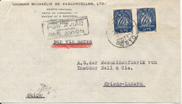 Portugal Cover Sent Air Mail To Switzerland 13-12-1950 - 1910-... Republic