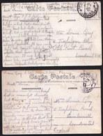 2 X ARMEE BELGE 1918 PETITE HISTOIRE D'UN SOLDAT BELGE ( 16ème Compagnie ) A PARIGNE-L'EVEQUE >SA MERE EN ANGLETERRE - Guerre 1914-18