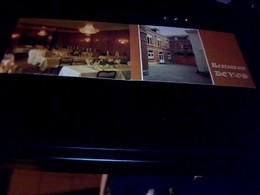 Publicité  Ancienne Carte De Visite  Restaurant Defos A Mons - Cartoncini Da Visita