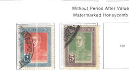 Argentina PO 1923 San Martin And Pan Am.  Scott.335/336+See Scans On Scott.Page - Usados