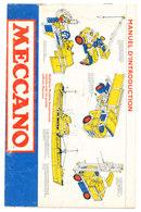 MECCANO  MANUEL D'INTRODUCTION - Meccano