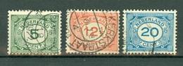 Nederland  1921  Yv. 103/105, NVPH 107/109, Mi 107/109 - 1891-1948 (Wilhelmine)
