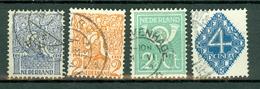 Nederland  1923  Yv. 107/110, NVPH 110/113, Mi 112/115 - 1891-1948 (Wilhelmine)