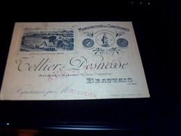 Publicité  Ancienne Carte De Visite De Representant  Manufacture De Chaussures Cellier Desnosse A Beauvais - Cartoncini Da Visita
