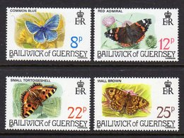 GUERNSEY - 1981 BUTTERFLIES SET (4V) FINE MNH ** SG 226-229 - Butterflies