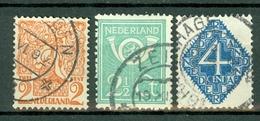 Nederland  1923  Yv. 108/110, NVPH 111/113, Mi 113/115 - 1891-1948 (Wilhelmine)
