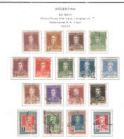 Argentina PO 1923/24 San Martin Without   Scott.340/356+(n.356 Ferfin)See Scans On Scott.Page - Argentina