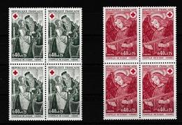 FRANCE 1970: 2 Blocs De 4  Croix Rouge Neufs**, En Provenance De Carnet - France