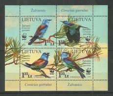 LITHUANIA - MNH - Animals - Birds - WWF - Pájaros