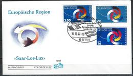 France-Germany-Luxemburg. Mixed FDC 1 Cancel. Sar.Lor.Lux. Joint Issue Of 1997 - Joint Issues