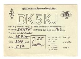 CT--02445-- CARTONCINO - GERMAN AMATEUR RADIO STATION - LEVERKUSEN - 1975 - CB