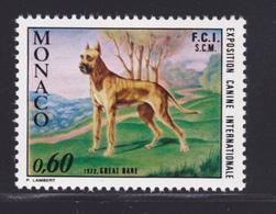 MONACO N°  880 ** MNH Neuf Sans Charnière, TB (D6889) Chien, Dogue Allemand - Monaco