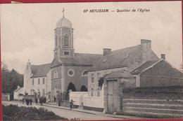 Op Heylissem - HELECINE - Quartier De L' Eglise 1919 RARE ZELDZAAM Animee Geanimeerd (En Très Bon Etat) - Hélécine