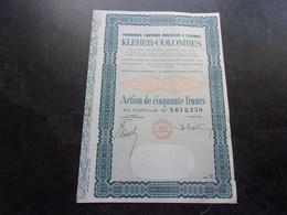 KLEBER COLOMBES Pneumatiques,caoutchouc.. (1963) COLOMBES - Shareholdings